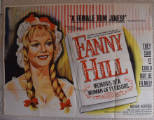Fanny Hill, Original UK Quad Poster, Russ Meyer, Leticia Roman, '68